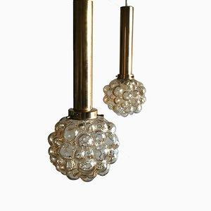 Deckenlampen aus Sideglas von Helena Tynell für Limburg, 2er Set