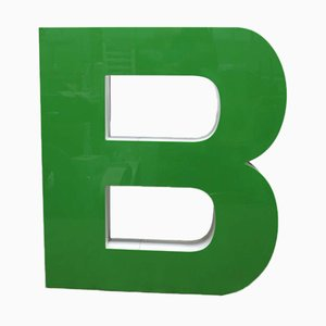 Großer Grüner Vintage Buchstabe B