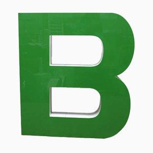 Letra B vintage grande verde