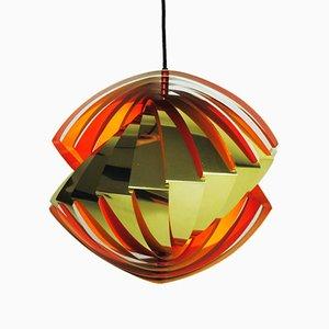 Lampada da soffitto Konkylie di Louis Weisdorf per Lyfa, 1964