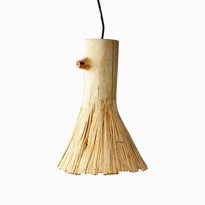 Lampada a sospensione in legno pressato di Johannes Hemann