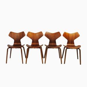 Grand Prix Chairs by Arne Jacobsen for Fritz Hansen, 1960s, Set of 4