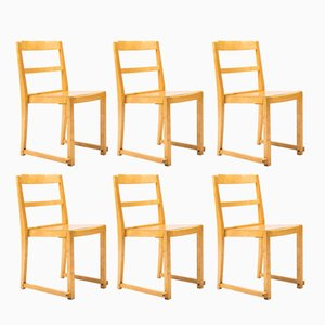 Stacking Chairs by Sven Markelius for Bodafors, 1960s, Set of 6