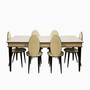 Mid-Century Esszimmer Set von Umberto Mascagni für Harrods, 1950er, 7er Set