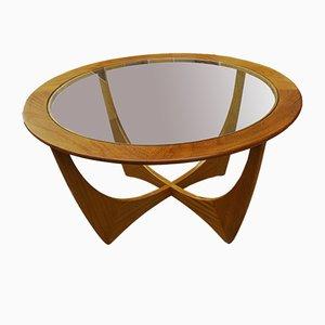 Mesa Astro vintage redonda de teca de Victor Wilkins para G Plan, años 60
