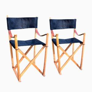 Dänische MK-16 Kinder Safari Stühle von Mogens Koch für Interna, 1960er, 2er Set