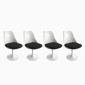 Mid-Century Swivel Tulip Chairs by Eero Saarinen for Knoll International, 1970s, Set of 4