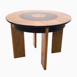 Mesa de comedor italiana vintage de madera, años 40