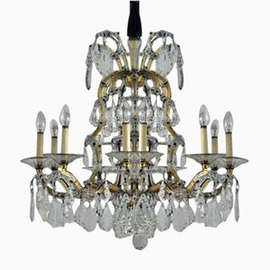 Antique Viennese Large Crystal Chandelier from Lobmeyr