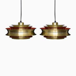 Trava Pendant Lamps by Sigurd Lindkvist for Granhaga Metallindustri, Set of 2