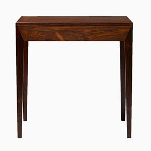 Mahogany Bedside Coffee Table by Severin Hansen for Haslev Møbelsnedkeri, 1960s