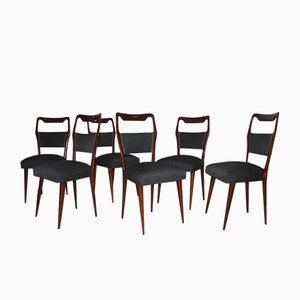 Italienische Mid-Century Stühle, 1950er, 6er Set