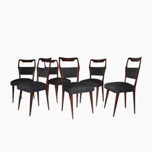 Mid-Century Italian Chairs, 1950s, Set of 6