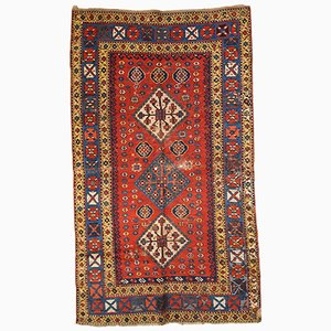 Antique Kazak Handmade Rug, 1860s