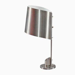 Lámpara de escritorio de acero inoxidable de Maison Charles, años 70