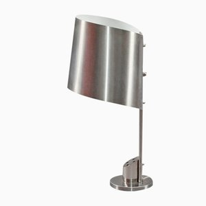 Stainless Steel Desk Lamp by Henri Mathieu, 1970s
