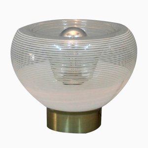 Lámpara de mesa italiana con motivo circular, años 70