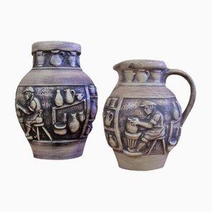 Vintage Vase and Jug from Knoedgen
