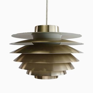 Danish Brass Ceiling Light by Sven Middelboe for Nordisk Solar, 1970s