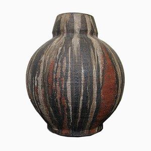 Jarrón de pie grande de cerámica de Gerhard Liebenthron, años 70