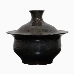 Jarrón italiano escultural de cerámica de Fernando Rava para Faenza Rava, años 70