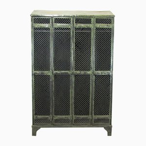 Industrial Vintage Locker with 4 Doors from Strafor, 1930s