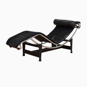 Chaise Longue LC 4 Vintage avec Revêtement Poney par Le Corbusier, Jeanneret et Perriand pour Cassina