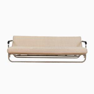 Sofá cama vintage de lana beige de Alvar Aalto para Wohnbedarf