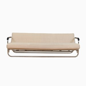 Vintage Daybed in Beige Wool by Alvar Aalto for Wohnbedarf