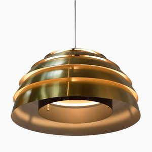 Gold-Colored Hanging Lamp from Hans Agne Jakobsson, 1958