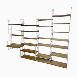 Estantería grande con 22 estantes de Nisse Strinning para String, años 50