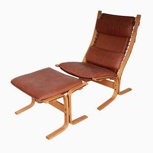 Chaise Siesta Vintage avec Ottomane par Ingmar Relling pour Westnofa