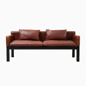Leather Sofa by John Saladino for Dunbar, 1960s
