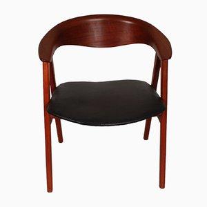 Vintage 52 Kompass Teak Stühle von Erik Kirkegaard für Høng Stolefabrik, 6er Set