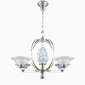 Art Deco French Chandelier from Hettier and Vincent