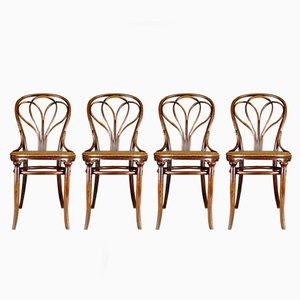 Antique No. 25 Chairs by Michael Thonet for Thonet, Set of 4