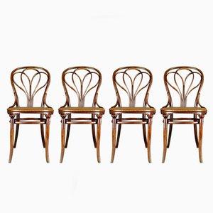 Chaises No. 25 Antiques par Michael Thonet pour Thonet, Set de 4
