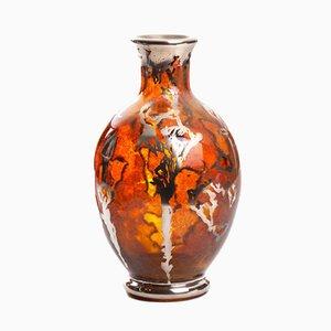 Jarrón polaco vintage de vidrio artístico de Józefina Glasswork