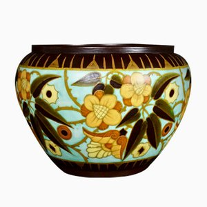 Art Deco Cache Pot by Charles Catteau for Boch Freres, 1934