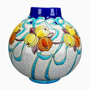 Art Deco Vase by Charles Catteau for Boch Frères, 1924