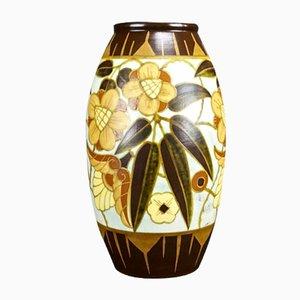 Art Deco Vase von Charles Catteau für Boch Freres, 1934