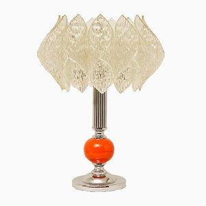 Lámpara de mesa Mid-Century con pantalla Lotus