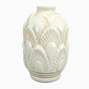 Model F1117 Vase by Charles Catteau for Boch Frères Keramis, 1930s