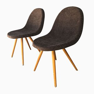 Brown Chairs, 1950s, Set of 2