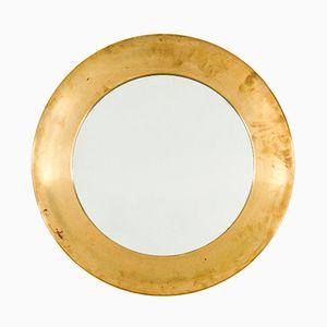 Mid-Century Spiegel mit Messingrahmen von Markaryd