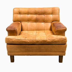 Mexico Buffalo Leather Easy Chair by Arne Norell, 1970s