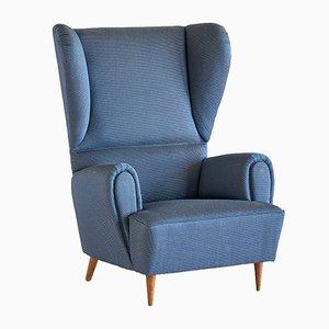 Vintage Sessel mit Rubelli Bezug von Paolo Buffa, 1940er