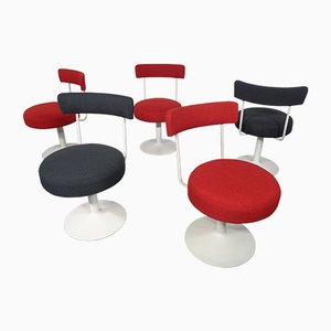 Swivel Chairs, 1970s, Set of 5