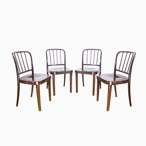 A811/4 Chairs by Josef Hoffman for Thonet, 1940s, Set of 4