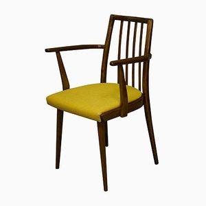 Chaise de Salon Mid-Century avec Coussin Moutarde par Jiri Jiroutek